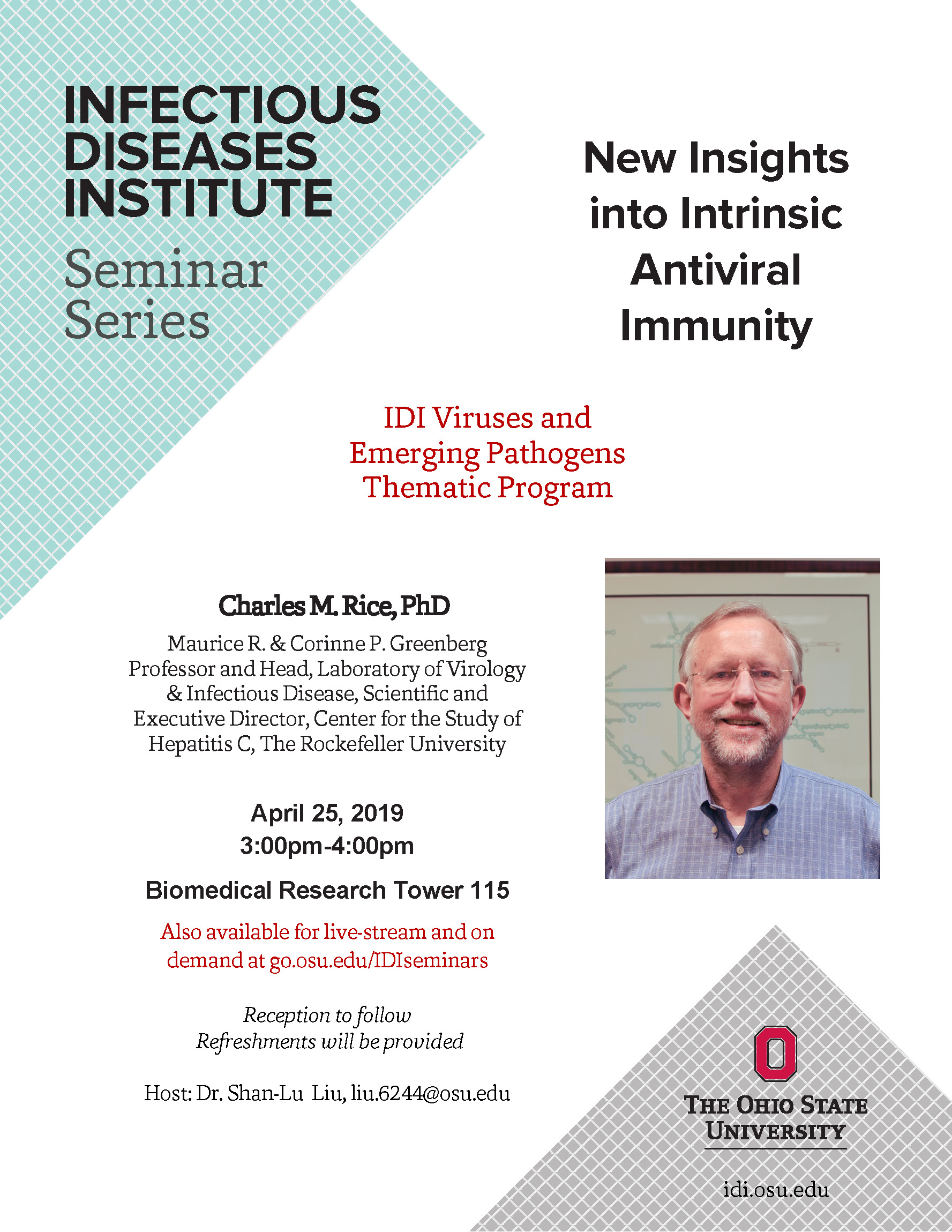 IDI Seminar Series: Viruses and Emerging Pathogens
