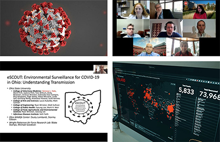 collage of screenshots from virtual symposium webinars